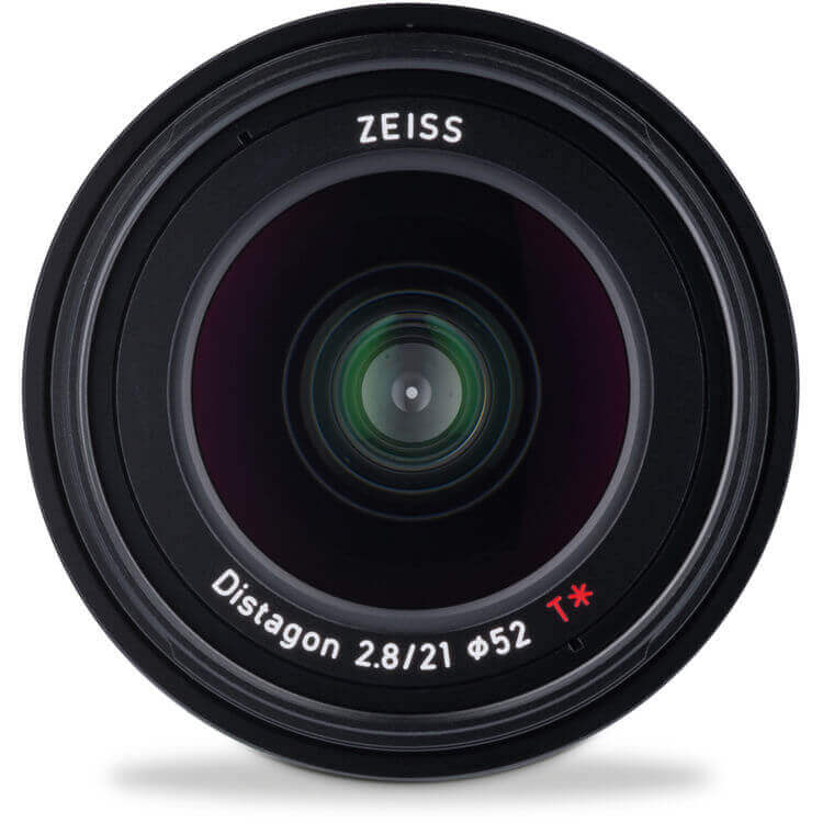 Zeiss Loxia 21mm f 2.8 front lens