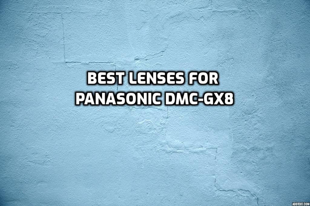 These are 5 Best Lenses for Panasonic GX8 In 2021 [Beginner's Guide]
