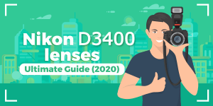 a featured image for Nikon D3400 lenses guide